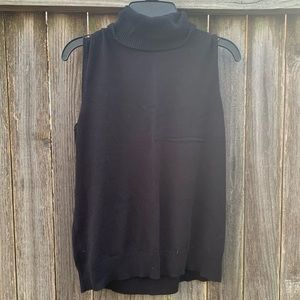 Cable & Gauge Turtle Neck Sleeveless Sweater l PXL